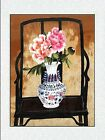New completed finished needlepoint Embroidery gift-classical flower vase chair-