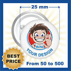 CUSTOM 25 mm BADGES , YOUR TEXT OR IMAGE, PINS / BUTTON, BEST PRICE EVER!