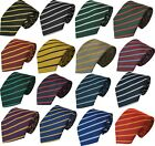 Junior School Children's Tie Single Thin Narrow Stripe Striped 7-10 Year Olds