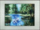 New completed finished needlepoint Embroidery-beautiful swan lake-soft framed