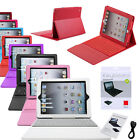 Leather New Apple iPad 2 3 4 Case Stand Cover And Wireless Bluetooth Keyboard