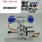 DJI Phantom Brushless Gimbal Camera Mount+2 Motors for Gopro3  Black Silver -US