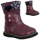 NEW INFANTS KIDS GIRLS MID CALF ZIP FLEECE WARM SNOW WINTER BOOTS SIZE SIZE 3-8