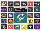 Mouse Pad *NFL Football* Rubber/Fabric (AFC/NFC) Logo Design *Select Your Team*