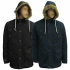 Mens Brave Soul Taslan Hoodie Quilted Padded Parka Jacket Coat Hooded Fistail