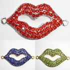 Gorgeous Rhinestone & Metal Lip Connectors for Jewellery Making - Choose Colour