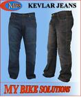 RIDER MENS KEVLAR REINFORCED MOTORCYCLE MOTORBIKE JEANS TRAVELLER BLUE AND BLACK