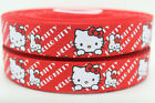 """1 meter 25mm, 1"""" hello kitty printed grosgrain ribbon bow diy party decoration"""