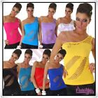 Sexy Ladies Vest Fishnet Top Women's  Summer Casual Top One Size 6,8,10,12 UK