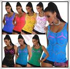 Sexy Ladies Fishnet Vest Top Women's Summer Everyday Tank Top One Size 6,8,10 UK