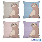 "SLOTH NAP ALL DAY DESIGN IDEAL GIFT 18"" X 18"" CUSHION 4 COLOURS AVAILABLE"