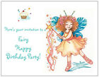 20  FAIRY CUPCAKE Childs Girls Birthday Postcards or Flat Cards Env Invitations