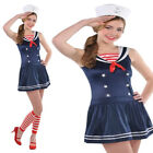 Womens Teens sexy Sailor Shipmate Girl Navy Nautical Fancy Dress Costume  outfit