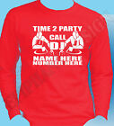 DJ T-Shirt Long Sleeve Advertise Personalise Name Number Disco Rave Party Mobile