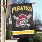 "Pittsburgh Pirates House Flag Banner 44"" x 28"" Embroidered - Jolly Roger or ""P"""