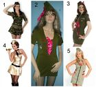 Army Costumes Military American Bugle Camouflage Green Brown