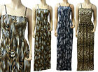 Strappy Summer Maxi Dress UK Size 12 - 26 in Various Length (Cheetah)