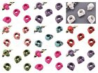 10 x Large Hole SKULL Beads Leather Kumihimo European Crafts 12mm ~ lady-muck1