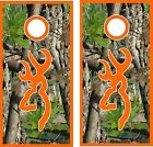 Camo Deer Rack Cornhole Bag Toss Game Sticker Decal Set Wrap Wraps
