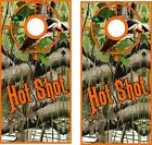 Hot Shot Duck Hunter  Cornhole BagToss Game Sticker Decal Set Wrap Wraps