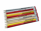 100 HB ERASER TIPPED PENCILS PERSONALISED - INK PRINTED- YOU CHOOSE COLOUR