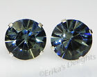 3mm-10mm Crystal Black Diamond Sterling Silver Earrings Using Swarovski Elements