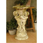 Cherub Garden Planter Urn by Orlandi Statuary Made of Fiberstone-FS8131