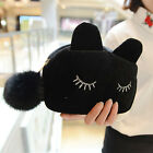 Fashion Womens Cat Face Cosmetic Coin Cellphone Makeup Pouch Bag Purse