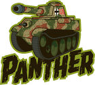 ICONZ CARTOON TEE SHIRT GERMAN WW2 PANTHER TANK RUSSIAN FRONT KURSK BERLIN 88MM