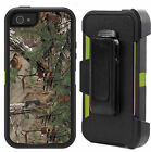 Forest Tree Shockproof Dirtproof Case Cover With Belt Clip for iPhone 5 5S