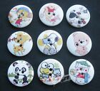 20/100pc 25mm Print Cartoon Animal Wood Buttons Sewing Notions Accessories NK062