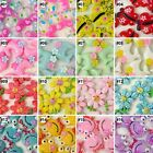10PCS mixed 16 designs cartoon flower Resin Flatback Cabochon Scrapbook U pick