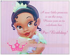 20 African American BABY GIRLPrincess Shower INVITATIONS Postcards or Flat