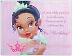 20 African American BABY GIRL Princess Shower INVITATIONS Postcards or Flat