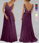 CUSTOM MADE New V Neck Beaded Bridesmaid Wedding Gown Prom Evening Dress SP308 L