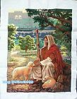 New Finished Completed Cross Stitch painting gift on sale-Jesus and lambs