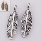 5pcs Long Leaf Charm Pendant Retro Silver/Bronze Charm For Jewelry Findings New