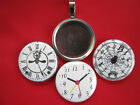 Clock Time pints Handmade changeable Magnetic Tray 3 Pendants  Necklace