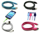 2M Micro USB Strong Braided Data Sync Charger Cable Fits Galaxy S3/S4 HTC One M8