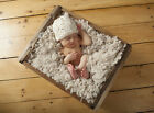 Hand Knitted / Crochet Baby Hat Rustic Beanie Photography/Photo Prop 0-12M