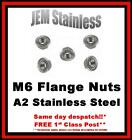 M6 Flange Nuts A2 Stainless Steel