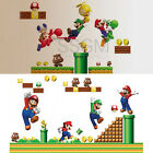 Super Mario Bros Kids Removable Wall Sticker Decals Nursery Home Decor Vinyl PVC