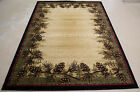 Lodge Cabin Rustic Forest Pinecone Area Rug **FREE SHIPPING**