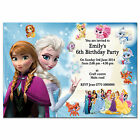 i17/blue Personalised Birthday party invitations invites 7th 8th 9th 10th 11th