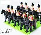 Cavalier Army Soldiers Horses Knights Figures c/w Rifles Compatible with Brands