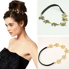 New Lady Olive Leaves Headband Ring Hair Band Wrap Forehead Round Chain Hairband