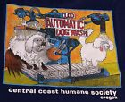 "funny dog Gildan t-shirt ""Automatic Dog Wash"" original cartoon for charity"