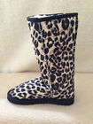 Lady ugg Boots Classic Tall Synthetic Wool Colour Black Leopard Multi Size