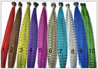 12 Colors Wholesale Mixed Color Synthetic Grizzly Feather Hair Extensions HP51