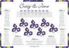 Wedding Table/ Seating Plan A3, A2 &A1 - Blue Iris Flower